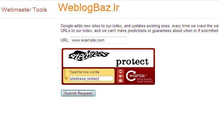 نحوه ی معرفی وبلاگ به گوگل ::WWW.WEBLOGBAZ.IR